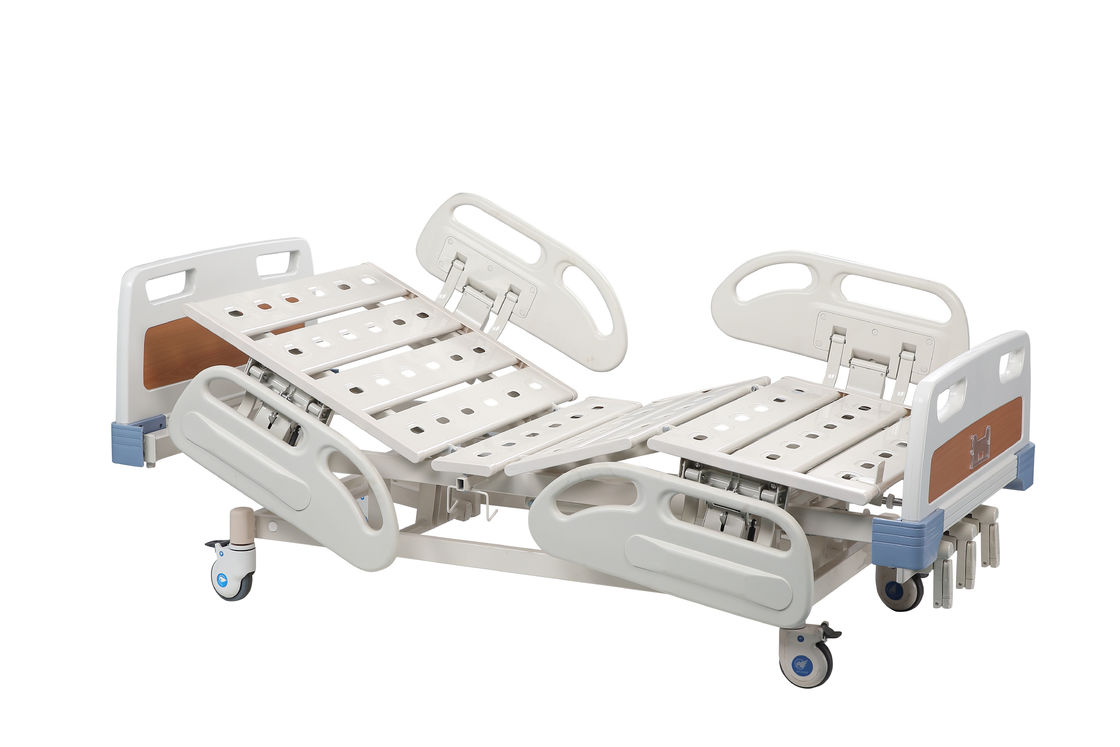 Folding Nursing Electric Hospital Bed With Rails Cold - Rolled Adjustable