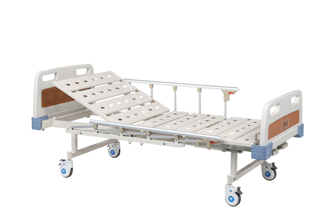 Metal Two Function Manual High End Hospital Beds / Automatic Patient Bed