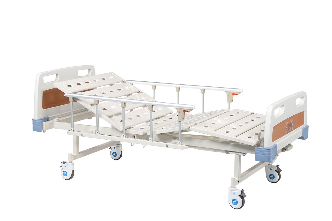 Manual Medical Hospital Bed ABS Bed Head / Foot with Two Functions