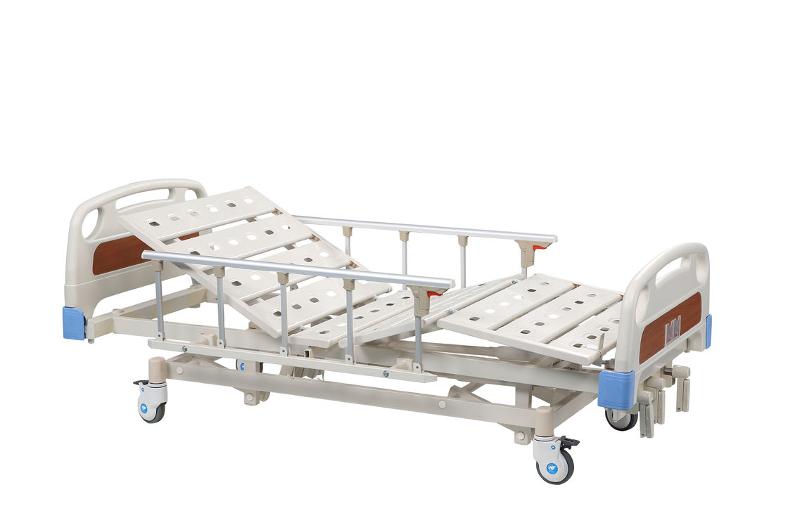 Crank Drive Hospital Bed Manual , Three Function Medical Adjustable Bed