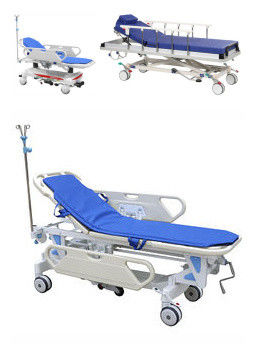 Adjustable Patient Transfer Trolley , Emergency Stretcher Trolley Or Hospital Use